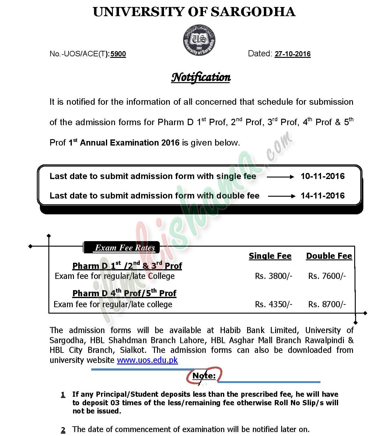 admission-schedule-of-pharm-d-1st-annual-exam-2016-page-001