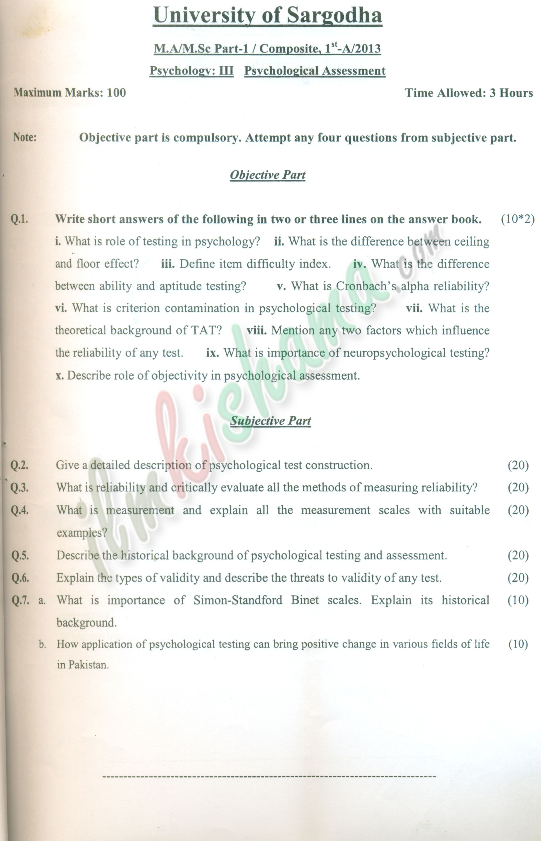 psychometric assessment essay Know about psychometric tests and its types along with a sample test  this is  done by using standard methods of assessment so that everyone is presented   take a piece of paper and write down three or four sentences describing your.